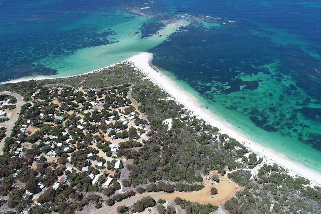 Aerial view Hopetoun Beachside Caravan Park