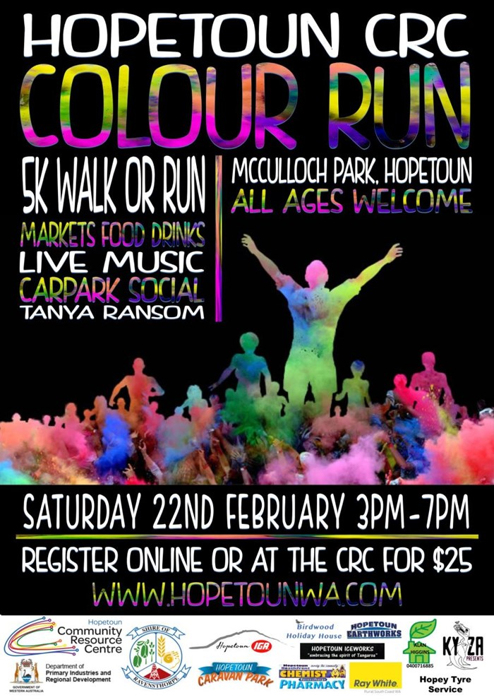 Hopetoun CRC Colour Run